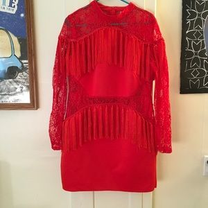 ASOS Red Lace Party Dress
